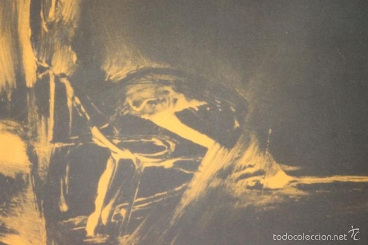 Arte: I3-041. ABSTRACTO. LITOGRAFIA SOBRE PAPEL. FIRMADO Y DEDICADO. VIOLA. SIGLO XX. - Foto 5 - 57767453