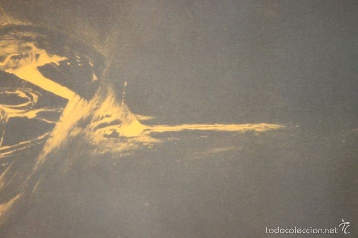 Arte: I3-041. ABSTRACTO. LITOGRAFIA SOBRE PAPEL. FIRMADO Y DEDICADO. VIOLA. SIGLO XX. - Foto 8 - 57767453