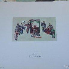 Arte: ESPECTACULAR LITOGRAFÍA DE LOS AÑOS 70 DEL PALACIO DE ARANJUEZ.. Lote 57791613