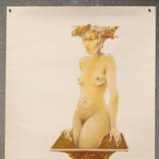 Arte: LITOGRAFÍA ORIGINAL DE GLAUCO CAPOZZOLI - FIRMADA Y NUMERADA 141/400 - DESNUDO FEMENINO. Lote 58127260