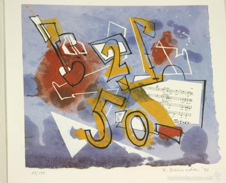 7826 - LITOGRAFÍA DE RALF BERNABEI. PUBLICACIÓN BODAS DE PLATA. TALL. SALVATELLA. 1996. (Arte - Litografías)