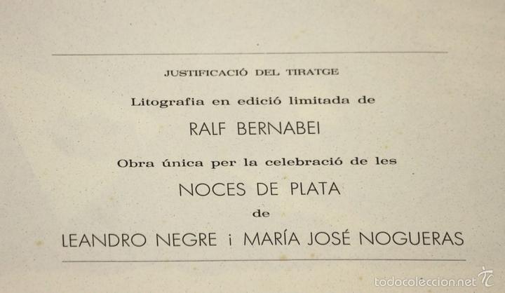 Arte: 7826 - LITOGRAFÍA DE RALF BERNABEI. PUBLICACIÓN BODAS DE PLATA. TALL. SALVATELLA. 1996. - Foto 7 - 58152749