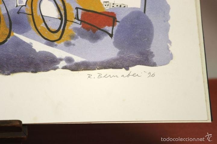 Arte: 7826 - LITOGRAFÍA DE RALF BERNABEI. PUBLICACIÓN BODAS DE PLATA. TALL. SALVATELLA. 1996. - Foto 9 - 58152749