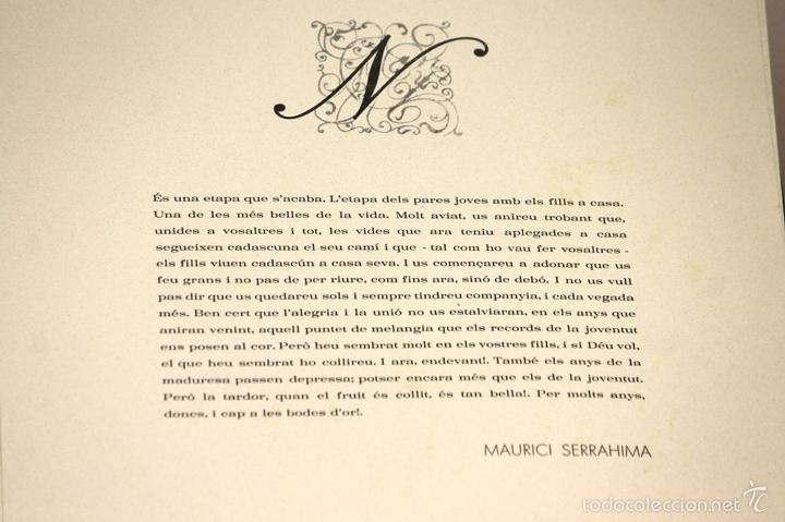 Arte: 7826 - LITOGRAFÍA DE RALF BERNABEI. PUBLICACIÓN BODAS DE PLATA. TALL. SALVATELLA. 1996. - Foto 12 - 58152749