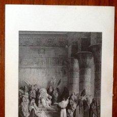 Art: LITOGRAFIA DORÉ. EDITADA POR: PANNEMAKER. JOSEPH Y EL FARAON.EL ENVIO ESTA INCLUIDO.. Lote 58184967
