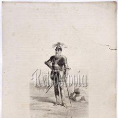Arte: LITOGRAFIA HISTORIA DE ESPAÑA CAPITULO XLV FRANCISCO PIZARRO LIT. SERRA 1871. Lote 58212415