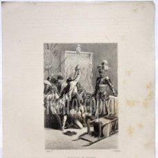Arte: LITOGRAFIA HISTORIA DE ESPAÑA CAPITULO LI ASESINATO DE FRANCISCO PIZARRO LIT. SERRA 1871. Lote 58212455