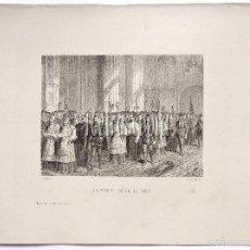 Arte: LITOGRAFIA HISTORIA DE ESPAÑA CAPITULO LXVIII APERTURA DEL CONCILIO DE TRENTO LIT. SERRA 1871. Lote 58212470