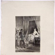 Arte: LITOGRAFIA HISTORIA DE ESPAÑA CAPITULO CIV PRISIÓN DEL PRÍNCIPE DON CARLOS DE AUSTRIA LIT SERRA 1871. Lote 58212544