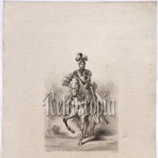 Arte: LITOGRAFIA HISTORIA DE ESPAÑA CAPITULO CXXVI ALEJANDRO FARNESIO LIT. SERRA 1871. Lote 58212601