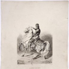 Arte: LITOGRAFIA HISTORIA DE ESPAÑA CAPITULO CXXIV DON ALFONSO V DE ARAGÓN LIT. SERRA 1871. Lote 58212616