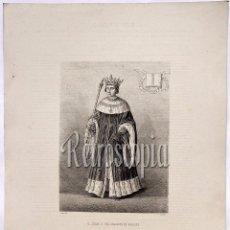 Arte: LITOGRAFIA HISTORIA DE ESPAÑA CAPITULO CXXVI DON JUAN II (EL GRANDE) DE ARAGÓN LIT. SERRA 1871. Lote 58212676