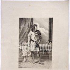 Arte: LITOGRAFIA HISTORIA DE ESPAÑA CAPITULO XCII DON JAIME II (EL JUSTICIERO) LIT. SERRA 1871. Lote 58212691