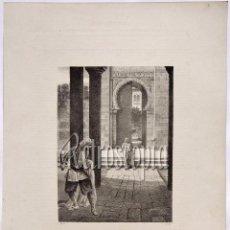 Arte: LITOGRAFIA HISTORIA DE ESPAÑA CAPITULO XCVII ASESINATO DEL REY DE GRANADA LIT. SERRA 1871. Lote 58212807