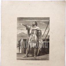 Arte: LITOGRAFIA HISTORIA DE ESPAÑA CAPITULO LI RAMÓN BERENGUER III EL GRANDE LIT. SERRA 1871. Lote 58213085