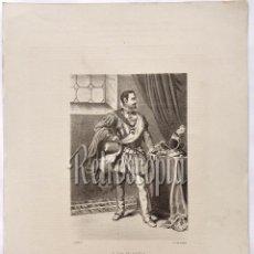 Arte: LITOGRAFIA HISTORIA DE ESPAÑA CAPITULO XCIX DON JUAN DE AUSTRIA LIT. SERRA 1871. Lote 58213096