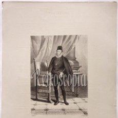 Arte: LITOGRAFIA HISTORIA DE ESPAÑA CAPITULO LXXV DON FELIPE II LIT. SERRA 1871. Lote 58213163