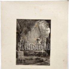 Arte: LITOGRAFIA HISTORIA DE ESPAÑA CAPITULO XXXIV DON SANCHO DE NAVARRA HACE VOTO PALENCIA LIT SERRA 1871. Lote 58213306