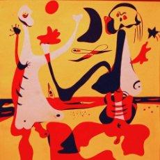 Arte: ORIGINAL POCHOIR MIRO, FIGURAS DELANTE LA PLAYA, 1934 PUBLICADO REVISTA D' ACI I D'ALLA. Lote 58368199
