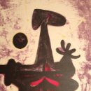 Arte: HOMBRE, LUNA Y ESTRELLAS. LITOGRAFIA FIRMADA Y NUMERADA, RUFINO TAMAYO, GUILDE DE LA GRAVURE, 1950.. Lote 44813513