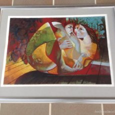 Arte: LITOGRAFIA ENMARCADA DE BENJAMIN SHIFF (1931-2011) SERIE LOS AMANTES. Lote 58551868