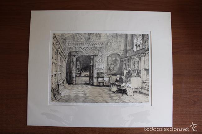 TOLEDO. SALA CAPITULAR, LITOGRAFÍA S. XIX DE J. F. LEWIS. (Arte - Litografías)