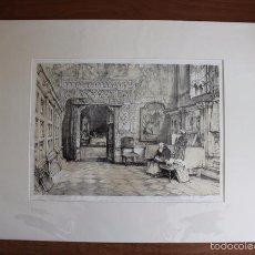 Arte: TOLEDO. SALA CAPITULAR, LITOGRAFÍA S. XIX DE J. F. LEWIS. . Lote 58684864
