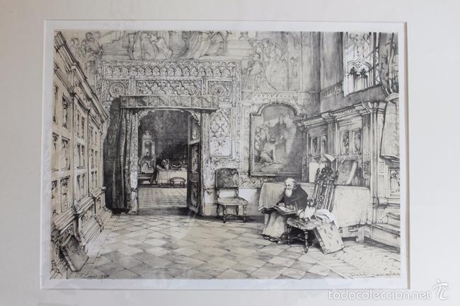 Arte: TOLEDO. SALA CAPITULAR, LITOGRAFÍA S. XIX DE J. F. LEWIS. - Foto 2 - 58684864