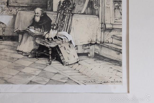 Arte: TOLEDO. SALA CAPITULAR, LITOGRAFÍA S. XIX DE J. F. LEWIS. - Foto 3 - 58684864