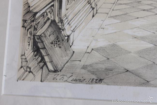 Arte: TOLEDO. SALA CAPITULAR, LITOGRAFÍA S. XIX DE J. F. LEWIS. - Foto 4 - 58684864