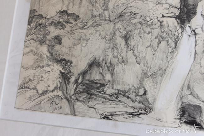 Arte: VISTA DE LA CIUDAD DE RONDA. LITOGRAFÍA S.XIX DE J. F. LEWIS. - Foto 3 - 58684927