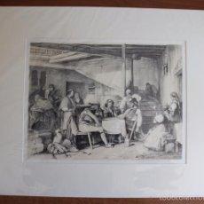 Arte: INTERIOR OF A POSADA. LITOGRAFÍA S. XIX DE J. F. LEWIS.. Lote 58685012