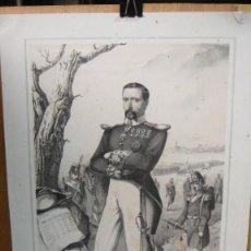 Arte: JOAQUIN RAVENET , COMANDANTE GENERAL DE VIZCAYA - F. BRINGAS DIBUJÓ - J. VALLEJO GRABÓ. Lote 58740730