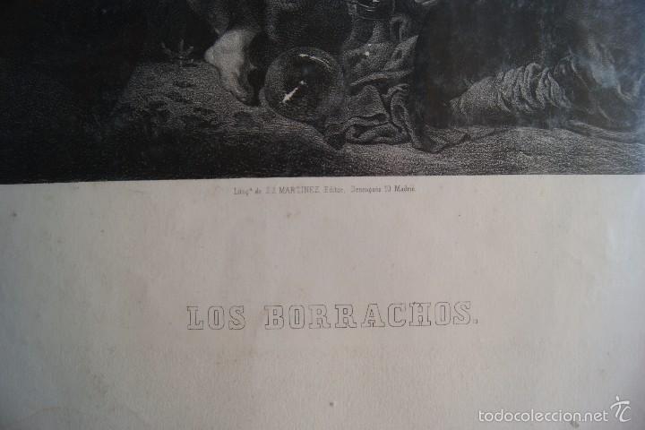 Arte: LITOGRAFIA LOS BORRACHOS REAL MUSEO DE MADRID - Foto 2 - 59849140