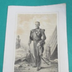 Arte - LITOGRAFÍA SIGLO XIX. ESTADO MAYOR DEL EJÉRCITO ESPAÑOL. JOSÉ CARRATALÁ. 44,5 X 31 CM. - 60230099