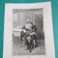 Arte: LITOGRAFÍA SIGLO XIX. ESTADO MAYOR DEL EJÉRCITO ESPAÑOL. MARISCAL JOSÉ RGUEZ SOLER. 44,5 X 31 CM.. Lote 60243343