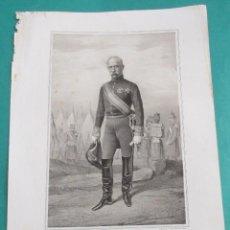 Arte: LITOGRAFÍA SIGLO XIX.ESTADO MAYOR DEL EJÉRCITO ESPAÑOL.MARISCAL ANTONIO TURÓN Y PRATS. 44,5 X 31 CM.. Lote 60249707