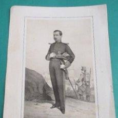 Arte: LITOGRAFÍA SIGLO XIX. ESTADO MAYOR DEL EJÉRCITO ESPAÑOL. MARISCAL JOSÉ A. DE OROZCO . 44,5 X 31 CM.. Lote 60249843