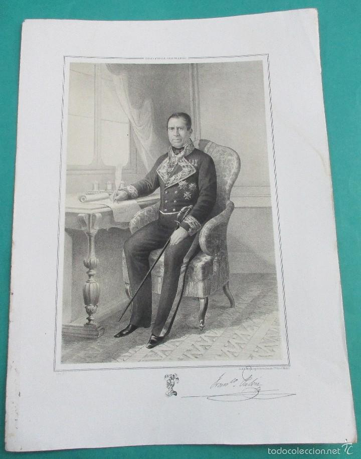 LITOGRAFÍA SIGLO XIX. ESTADO MAYOR DEL EJÉRCITO ESPAÑOL. FRANCISCO P. . 44,5 X 31 CM. (Arte - Litografías)