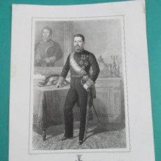 Arte: LITOGRAFÍA SIGLO XIX. ESTADO MAYOR DEL EJÉRCITO ESPAÑOL. GENERAL GENARO DE QUESADA. 44,5 X 31 CM.. Lote 60272699
