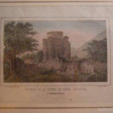Arte: LITOGRAFIA DE DONON CASTILLO DE LA VIRGEN DE NIEVA NAVARRA SIGLO XIX. Lote 60278303