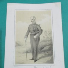 Arte: LITOGRAFÍA SIGLO XIX. ESTADO MAYOR DEL EJÉRCITO ESPAÑOL. FRANCISCO B.. 44,5 X 31 CM.. Lote 60347635