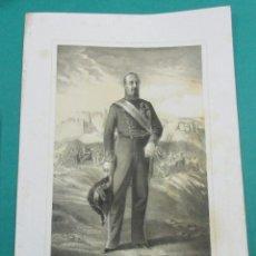 Arte: LITOGRAFÍA SIGLO XIX. ESTADO MAYOR DEL EJÉRCITO ESPAÑOL. FRANCISCO .... . 44,5 X 31 CM.. Lote 60353351