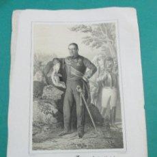 Arte: LITOGRAFÍA SIGLO XIX. ESTADO MAYOR DEL EJÉRCITO ESPAÑOL. FRANCISCO DE PAULA . 44,5 X 31 CM.. Lote 60356811