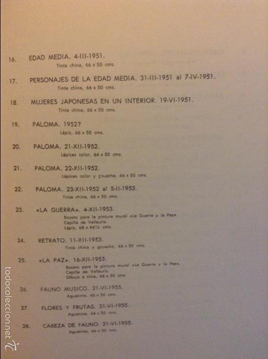 Arte: PICASSO DIBUJOS - GOUACHES - ACUARELAS SALA GASPAR BARCELONA ABRIL 1961 LITOGRAFIA ORIGINAL COMPLETA - Foto 9 - 69923706