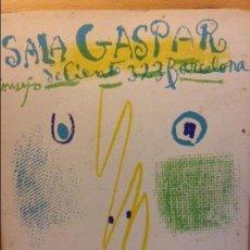 Arte: PICASSO DIBUJOS - GOUACHES - ACUARELAS SALA GASPAR BARCELONA ABRIL 1961 LITOGRAFIA ORIGINAL COMPLETA. Lote 69923706