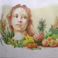 Arte: GLAUCO CAPOZZOLI , LITOGRAFIA NUMERADA Y FIRMADA. Lote 60499475