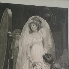 Arte: LITOGRAFIA DE 1904 THE WEDDING MORN. Lote 61960748