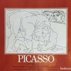 Arte: PICASSO- CARTEL EXPOSICION RECOLETOS-1981. Lote 62809028