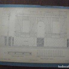 Arte: ANTIGUA LITOGRAFÍA DE J ALEU I MONRÓS - PLANO -1ª PARTE LÁMINA 7 - TORREÓN. Lote 63482228